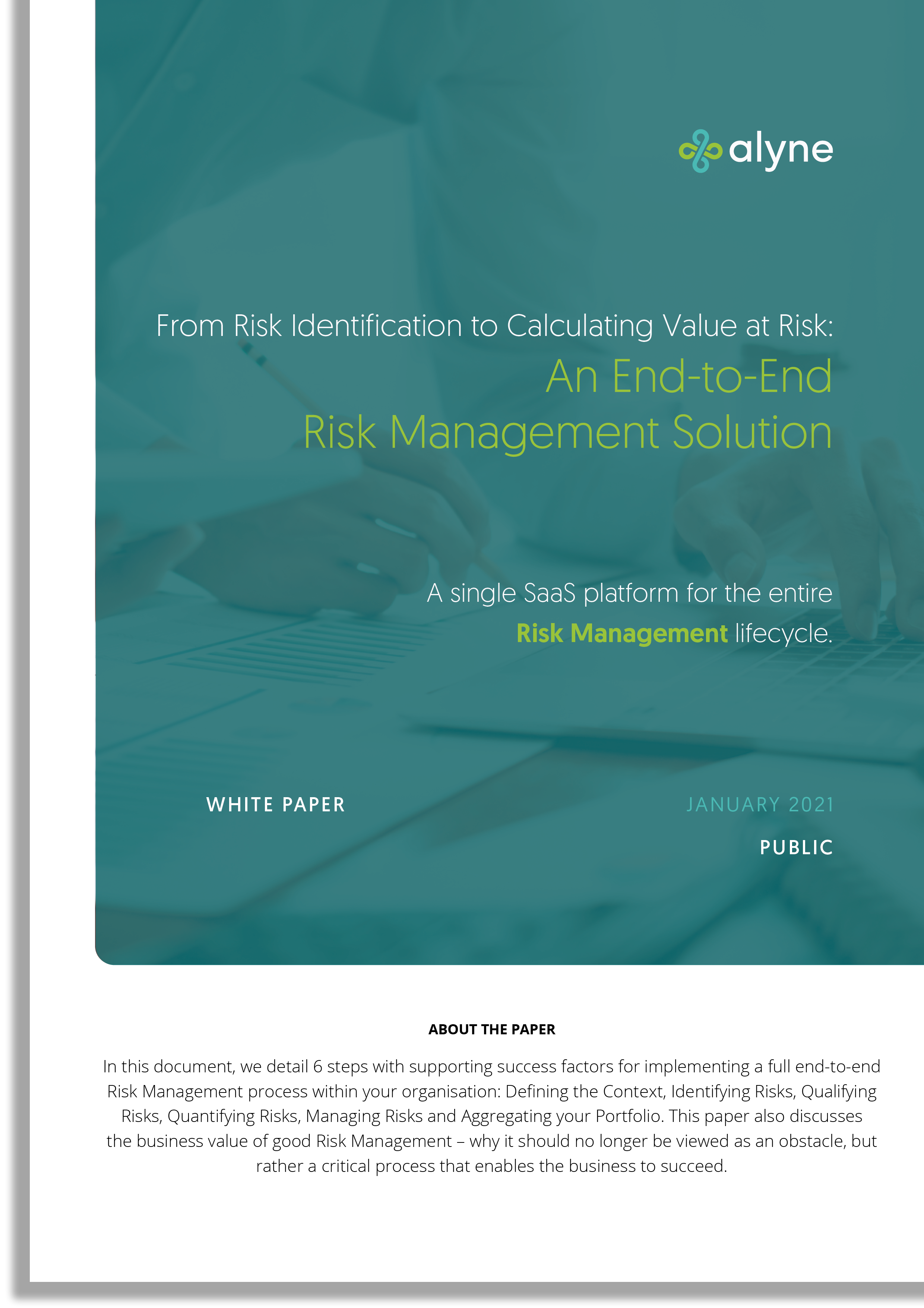 End to End Risk Management (Cover)